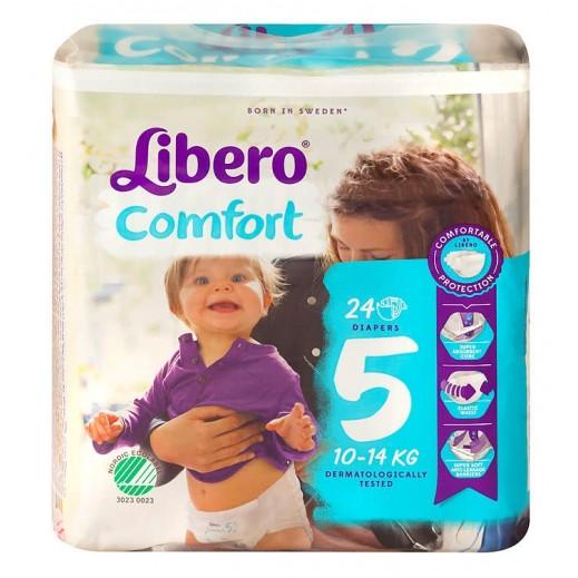 ليبرو – حفاضات أطفال كومفرت فيت المرحلة 5 (10 - 14 كجم) 24 حبة
