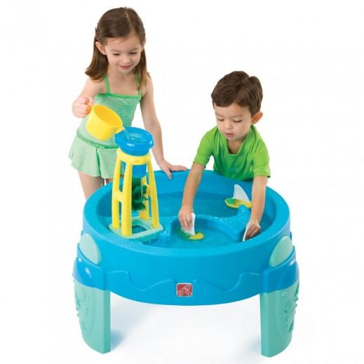 ستيب 2 – طاولة الألعاب المائية للأطفال – أزرق - يتم التوصيل بواسطة Shahaleel