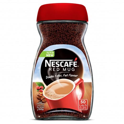 """نسكافيه – قهوة سريعة التحضير """"ريد مج"""" 100 جم"""