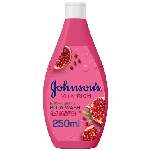 جونسون - جيل استحمام فيتا ريتش لإشراقة البشرة بخلاصة الرمان 250 مل