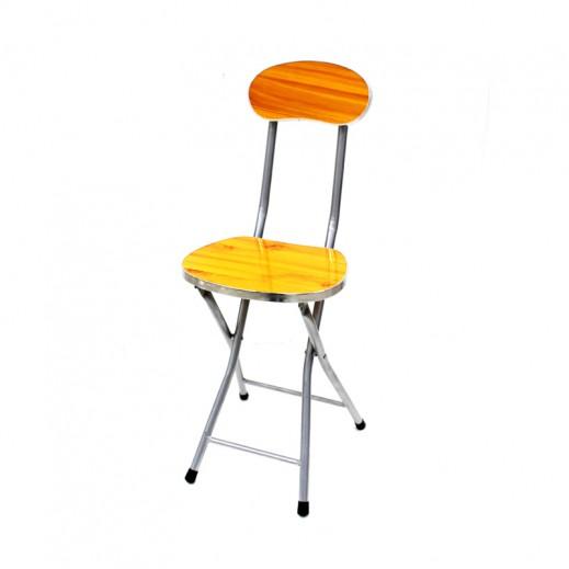 مقعد معدني قابل للطي بمسند للظهر