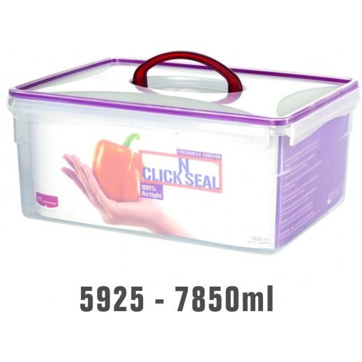 برينس وير - وعاء Click N بغطاء لحفظ وتخزين الأطعمة 7.850 لتر
