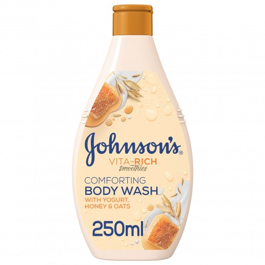 جونسون - صابون سائل Vita-Rich سموذي راحة مع خلاصة اللبن والعسل والشوفان 250 مل