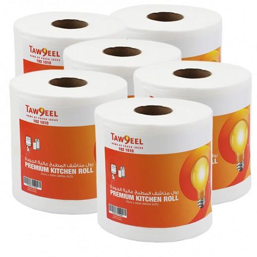 توصيل – رول مناشف المطبخ الميجا 20 سم × 350 م - (6 حبة) منتجات الجملة
