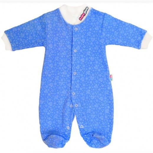 بيبي جلو – بدلة النوم الذكية للأولاد (0-3 شهور) – لون أزرق