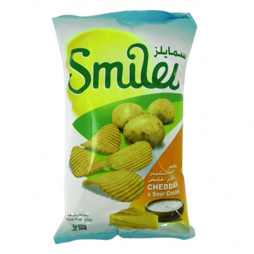 Fico Smiles Cheddar & Sour Cream Chips 27 g