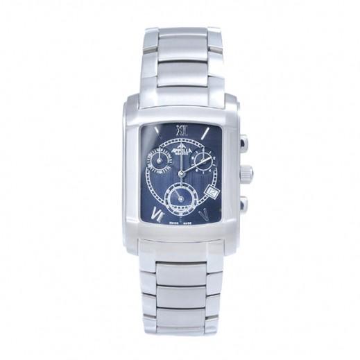 أبيلا – ساعة يد سويسرية للرجال بحزام ستانليس ستيل وواجهة زرقاء (AP-885.03.0.0.06)