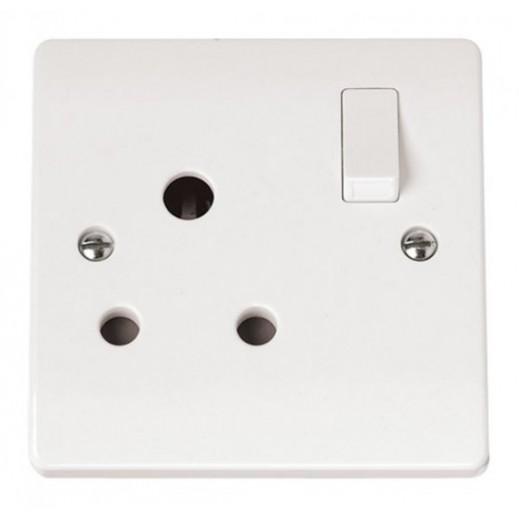 كليك- مشترك حائط كهربائي 1 مخرج 15 امبير  - ابيض