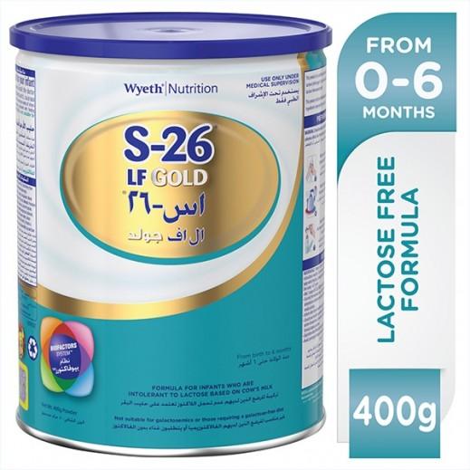 اس-26 (LF) جولد – حليب للرّضع خالي من اللاكتوز (المرحلة الأولى) 400 جرام (0-6) أشهر