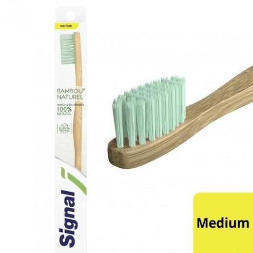 سيجنال - فرشاة أسنان من خشب البامبو - متوسطة حبة