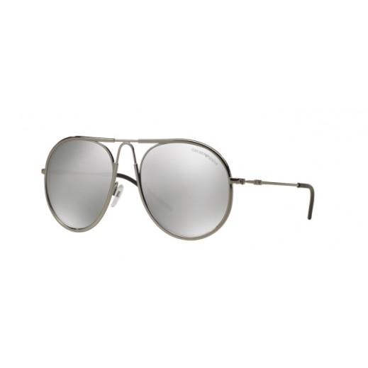 امبوريو أرماني – نظارة شمسية للرجال عاكسة برونزي/فضي موديل EAR 2034 3010 6G مقاس 54