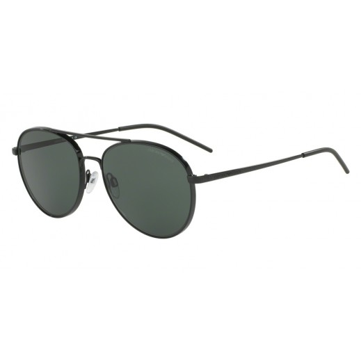 امبوريو أرماني – نظارة شمسية لكلا الجنسين أسود/رمادي أخضر موديل EAR 2040 3014 71 مقاس 58