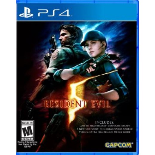 لعبة RESIDENT EVIL 5 STANDARD EDITION لجهاز PS4 نظام NTSC