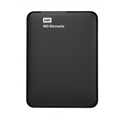 قرص صلب محمول صغير WD ELEMENTS سعة 1 تيرابايت USB 3.0 رقم WDBGPU0010BBK-EESN