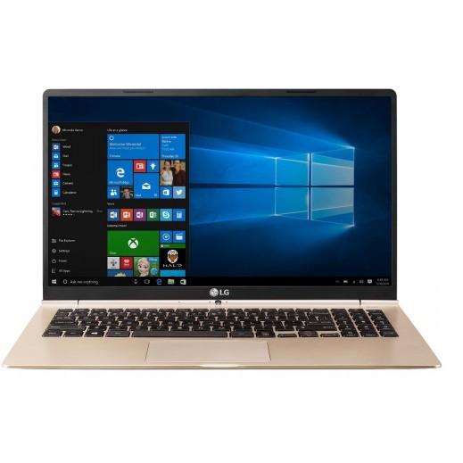 LG كومبيوتر محمول نحيف جدا GRAM معالج CORE I5 شاشة 15 بوصة - لون ذهبي - يتم التوصيل بواسطة Al Babtain Electronics Company