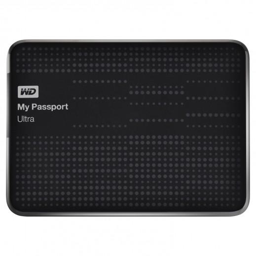 قرص صلب محمول صغير WD MY PASSPORT ULTRA سعة 1 تيرابايت USB 3.0 اسود WDBGPU0010BBK-EESN
