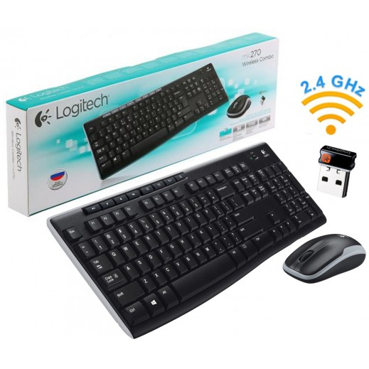 Logitech Wireless Combo MK270 with Keyboard and Mouse