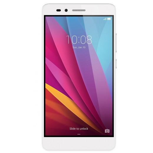 هواوي HONOR 5X هاتف ذكي 16 جيجابايت 13 ميجابكسل 4G LTE شاشة 5.5 بوصة - فضي