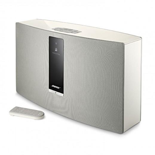 """بوز – سماعة خارجية لاسلكية """"ساوند تاتش 30"""" – أبيض - يتم التوصيل بواسطة aDawliah Electronics"""