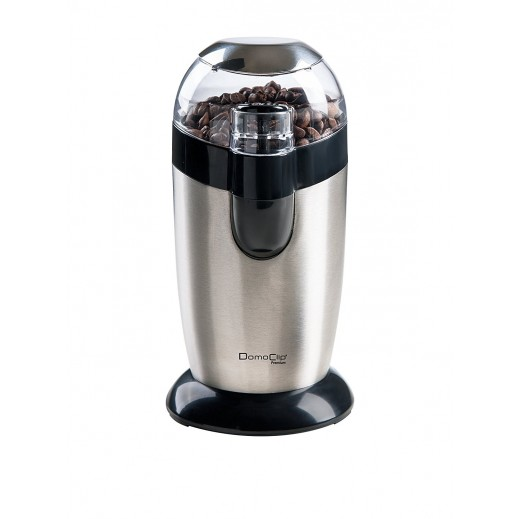 دومو كليب – مطحنة القهوة ستانلس ستيل 40 جرام 120 واط – فضي