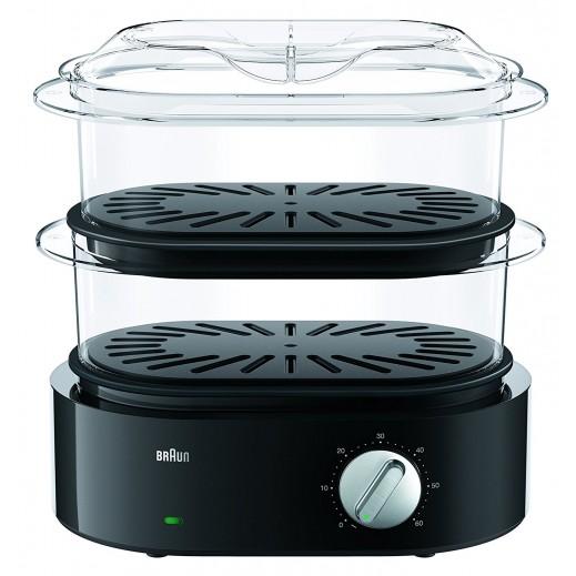 براون – جهاز تحضير الطعام البخار بقوة 850 واط موديل FS 5100 – أسود