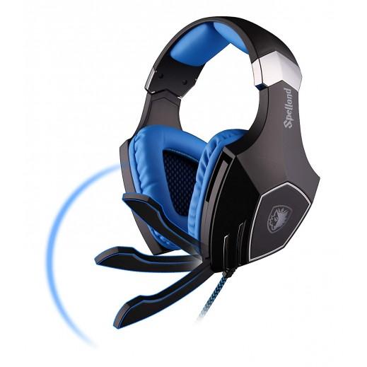 سادس - Spellond Pro - سماعة راس  لالعاب الفيديو - ازرق