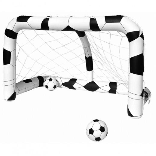 بست واي – عارضة كرة القدم مع شبكة ( 213 × 122 × 137 سم )