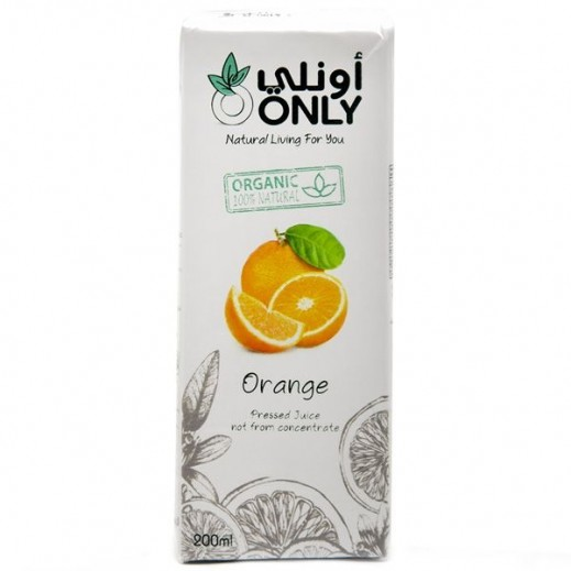 أونلي - عصير البرتقال العضوي 200 مل