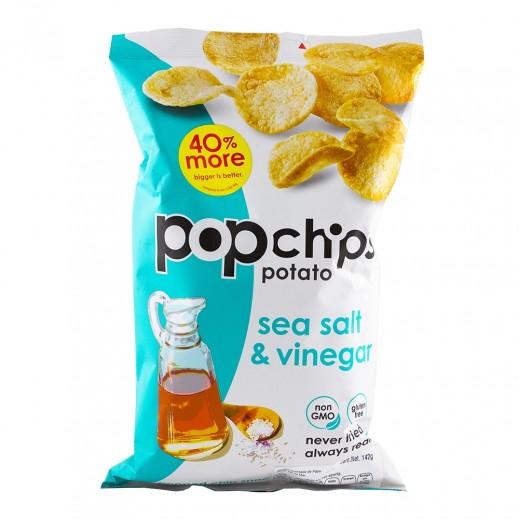 بوب شيبس – رقائق شيبس بنكهة الخل وملح البحر خالية من الغلوتين 142 جم