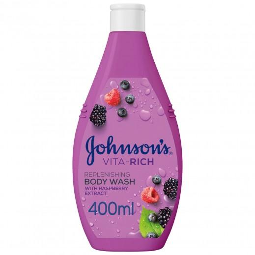 جونسون - صابون سائل للاستحمام Vita Rich النضارة مع خلاصة التوت البري وتوت العليق 400 مل