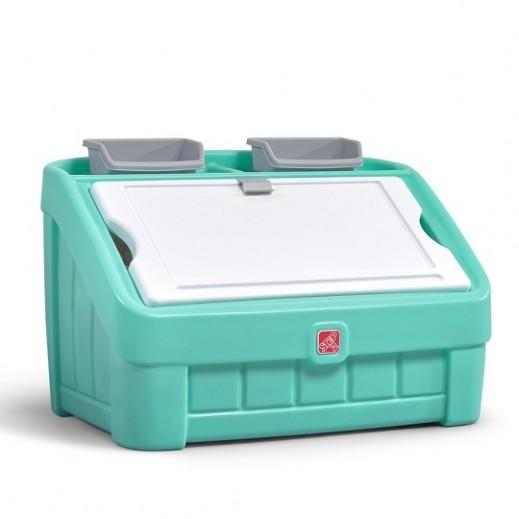 ستيب2 - صندوق الالعاب والتلوين - ليموني - يتم التوصيل بواسطة شهاليل بعد 3 أيام عمل