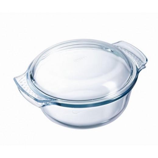 بايركس – وعاء طهي زجاجي دائري مع غطاء – 3.5 لتر