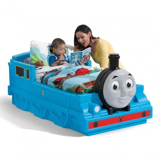 """ستيب 2 – سرير الأطفال """"توماس القطار"""" – أزرق - يتم التوصيل بواسطة شهاليل خلال 2 أيام عمل"""