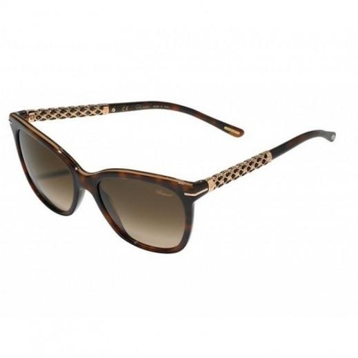 شوبارد - نظارة شمسية Square Tortoise للسيدات - بني - 54 مم  - يتم التوصيل بواسطة Waleed Optics