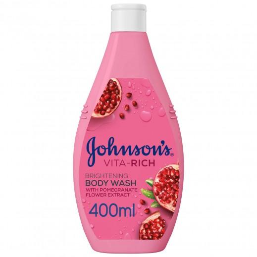 جونسون - جيل استحمام فيتا ريتش لإشراقة البشرة بخلاصة الرمان 400 مل