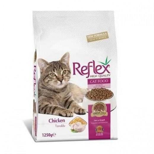 ليدر – طعام القطط البالغة (ريفليكس) عالي الجودة مع الدجاج 1.5 كجم
