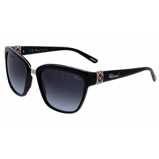 شوبارد - نظارة شمسية Square للسيدات - أسود - 57 مم  - يتم التوصيل بواسطة Waleed Optics