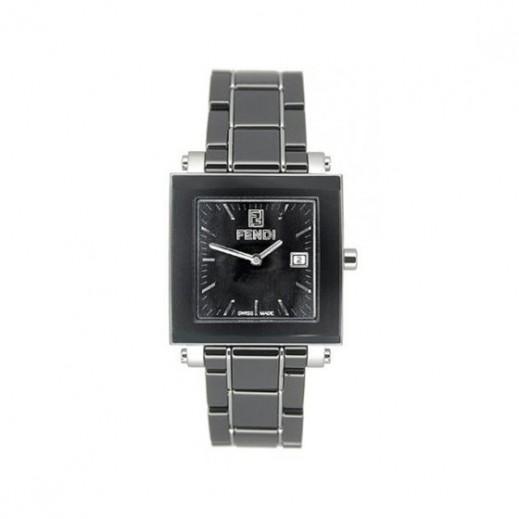 فندي - ساعة سوداء بحزام أسود سيراميك للنساء - يتم التوصيل بواسطة My Fair Lady