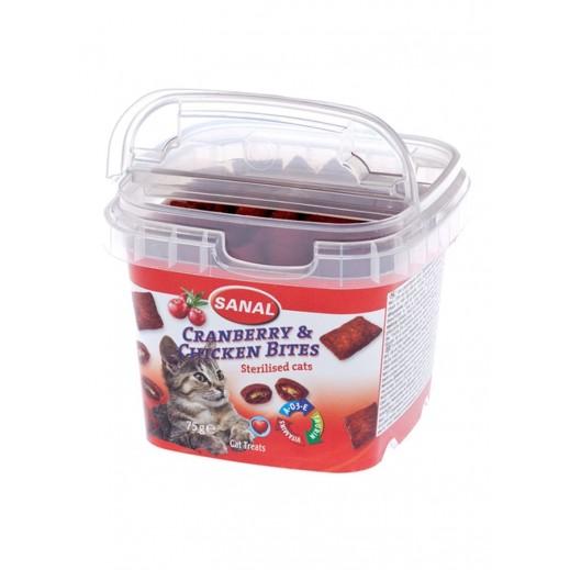 سانال كات – حلوى بطعم الدجاج والتوت البري للقطط 75 جم