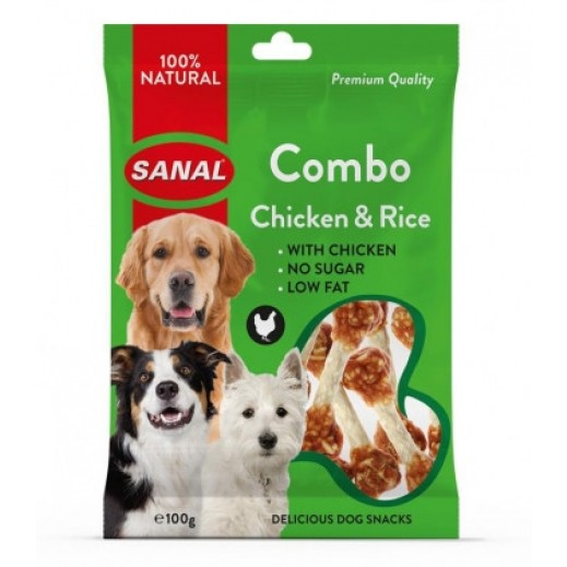 سانال – طعام كومبو بالدجاج والأرز للكلاب 100 جم