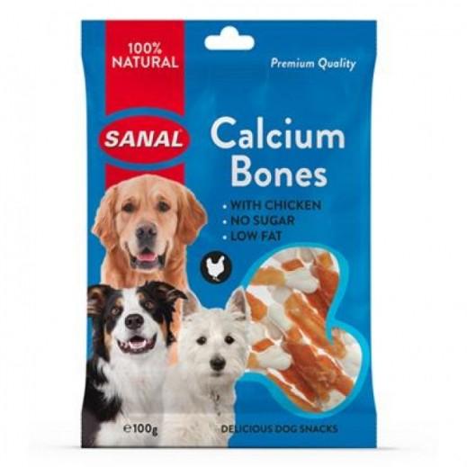 سانال – طعام عظام الدجاج اللذيذة بالكالسيوم للكلاب 100 جم