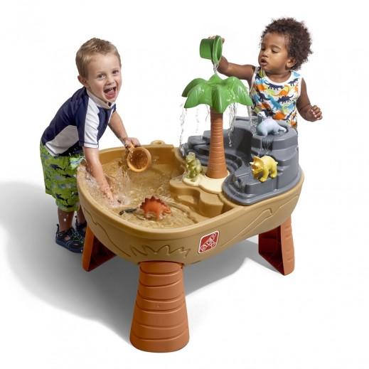 ستيب 2 – طاولة الرمال والماء مع الديناصور – بني - يتم التوصيل بواسطة Shahaleel