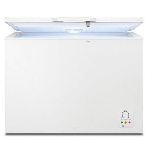 إلكترولوكس – فريزر أفقي باب واحد 250 لتر – أبيض - يتم التوصيل بواسطة Jashanmal & Partners