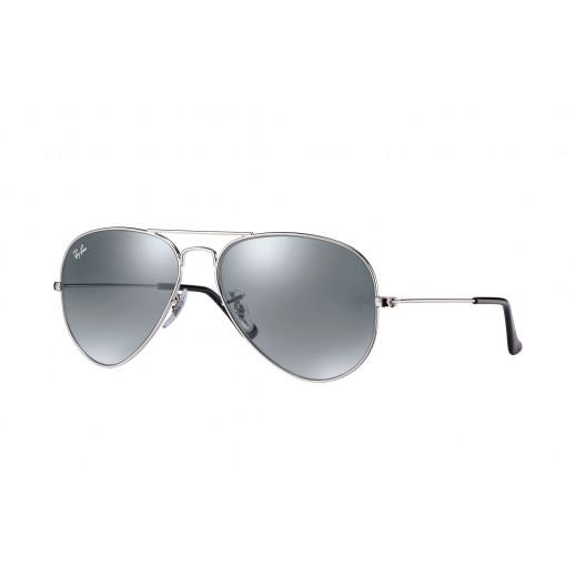راي بان - نظارة شمسية Aviator لكلا الجنسين - فضي 58 مم  - يتم التوصيل بواسطة Waleed Optics