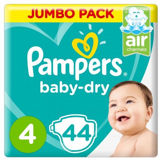 بامبرز - حفاضات Baby-Dry مقاس 4 ماكسي، 9 - 14 كجم 44 حفاضة