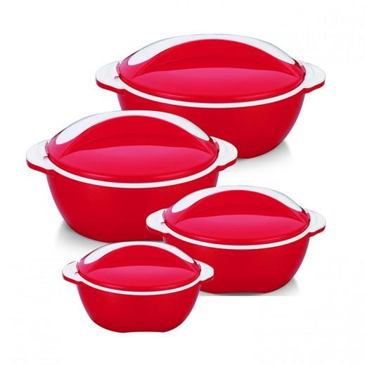 بيناكل – طقم أوعية بيكاسو لحفظ الطعام ساخناً (4 حبة) - ألوان متعددة