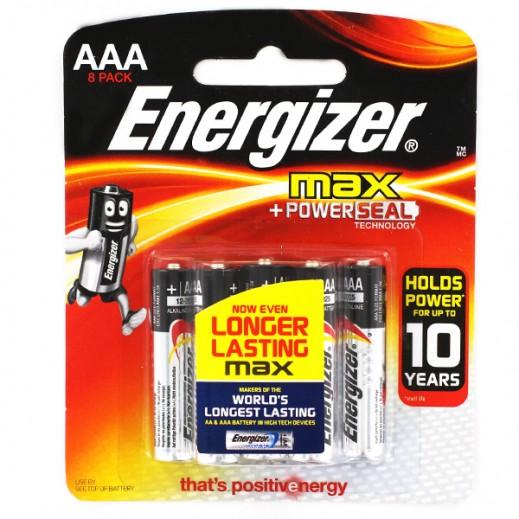 انرجايزر MAX حزمة من 8 بطاريات ALKALINE AAA