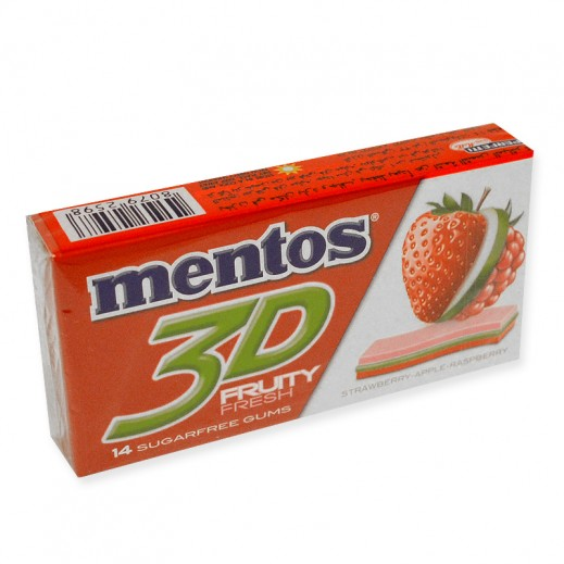 مينتوس - علك بطعم الفراولة 14 جم