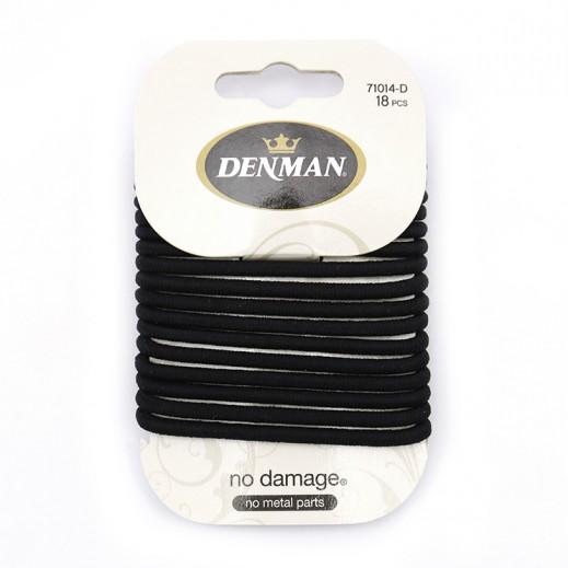 دنمان - رابطة شعر تمنع تلف الشعر أسود 4 مم 18 حبة