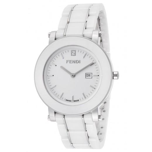 فندي - ساعة بيضاء بحزام أبيض للنساء - يتم التوصيل بواسطة My Fair Lady